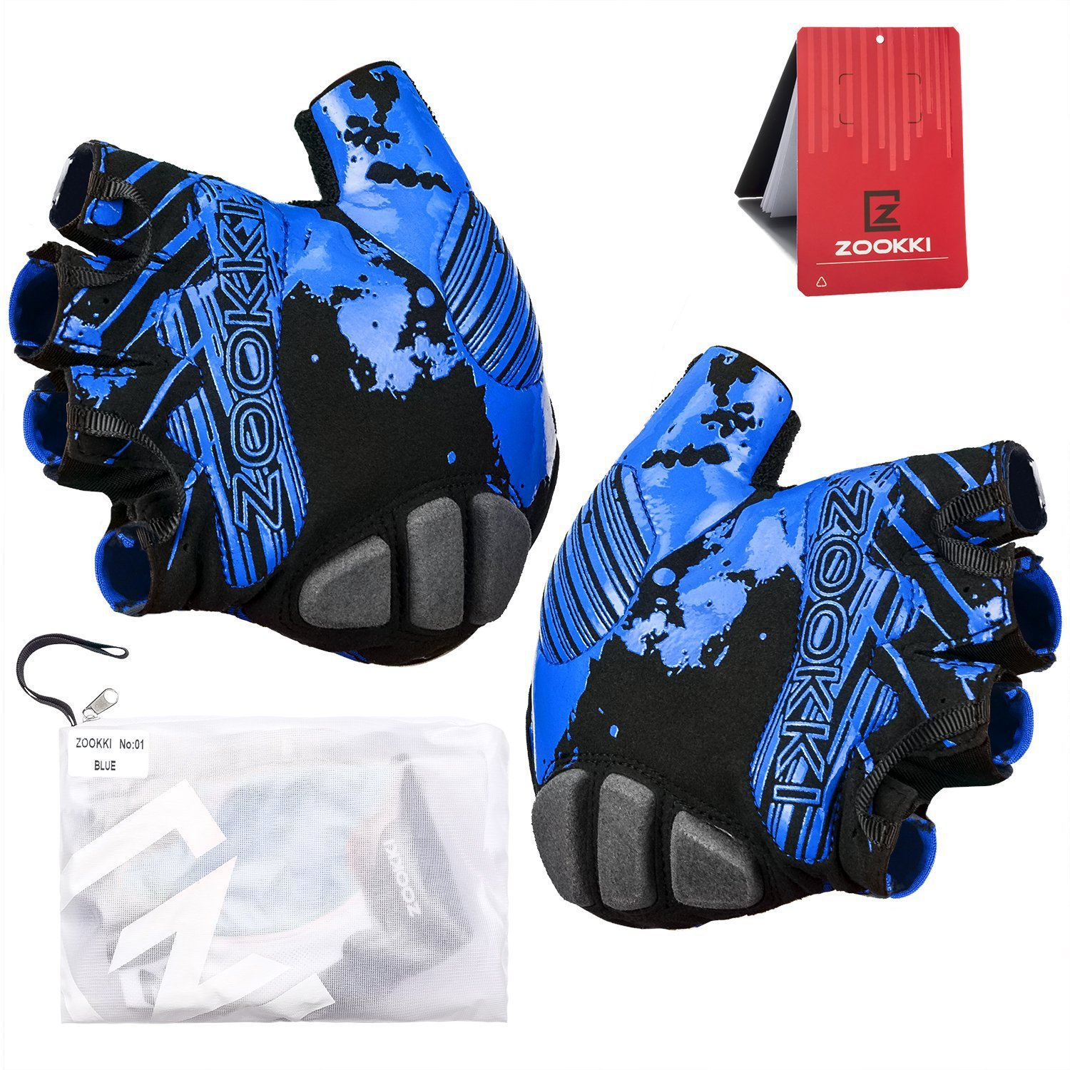 Motorcycle gloves half finger - Zooki Cycling Gloves