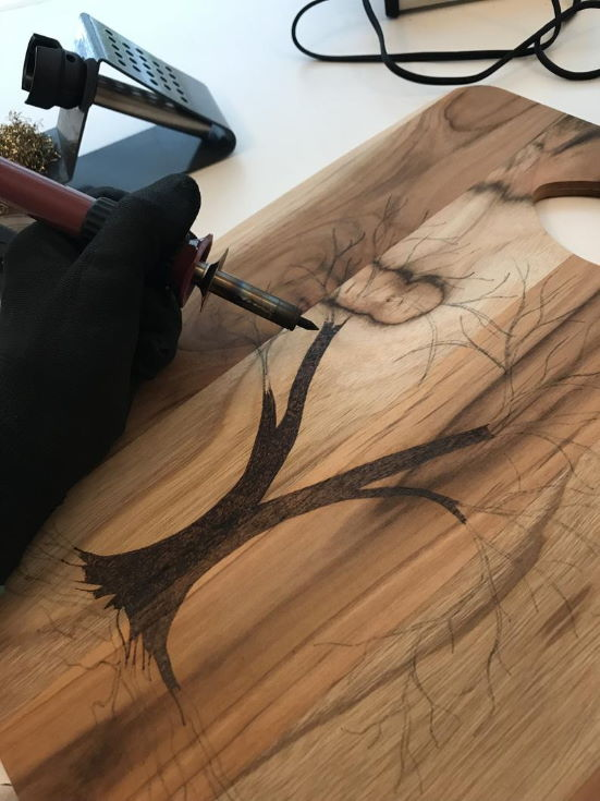 Custom Wood Burning Patterns: Heart Tree // Easy Pattern Template Design // Pyrography Art // Instant Download PDF File // Cutting Board