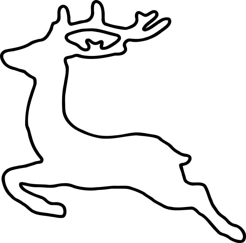 Jumping Deer Silhouette