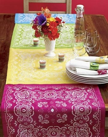 Bandana Table Runners