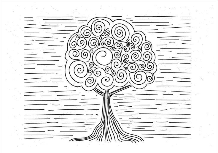 Free Hand Drawn Vector Abstract Tree