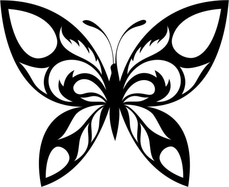 Tribal Butterfly Silhouette