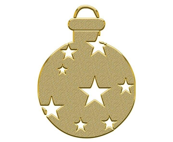 Golden Christmas Ornaments vector