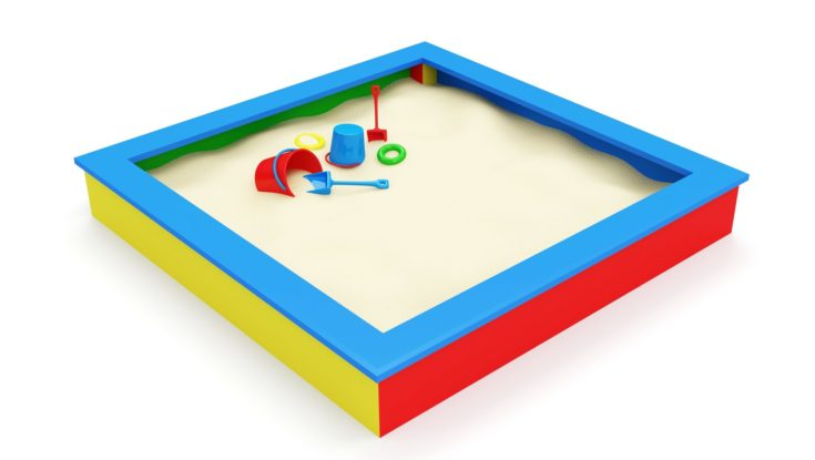 Children's Sandbox with Toys