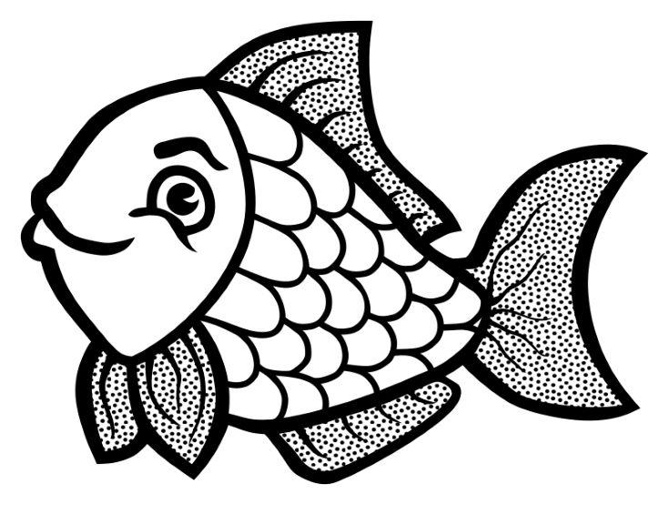 A Cute Cartoon Fish