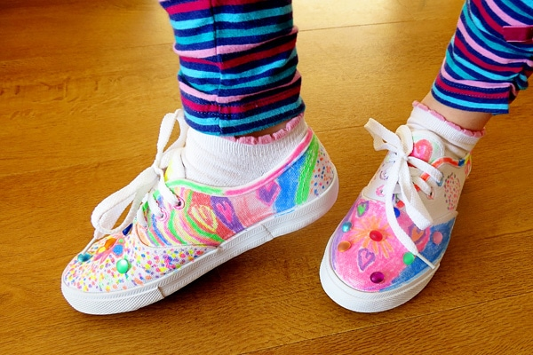 Decorated Tennis Shoes