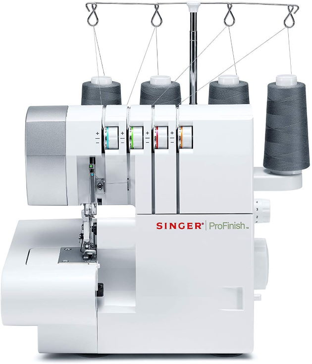 SINGER   ProFinish 14CG754 2-3-4 Thread Serger with Adjustable Stitch Length, & Differential Feed - Sewing Made Easy,White