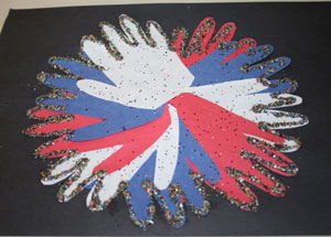 Hand Print Fireworks Craft