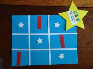 Stars and Stripes Tic-Tac-Toe