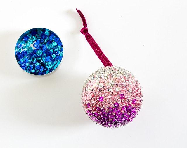 Sequined Christmas Bulbs