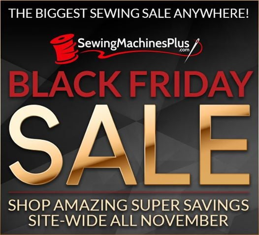SewingMachinesPlus.com Black Friday sale slogan