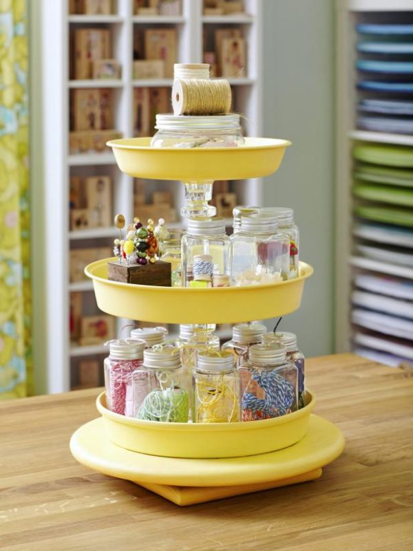 Tiered Crafting Trays