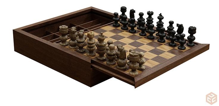 Custom Chess Board & Box