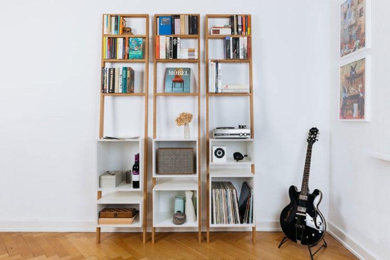 21 DIY Ladder Bookshelf Ideas