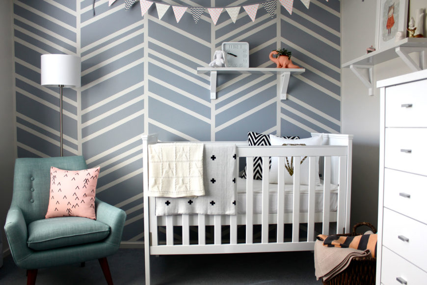 Baby bedroom with crib