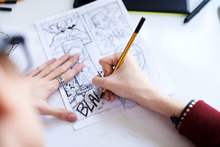 The Best Inking Pens for Drawing Comics & Manga