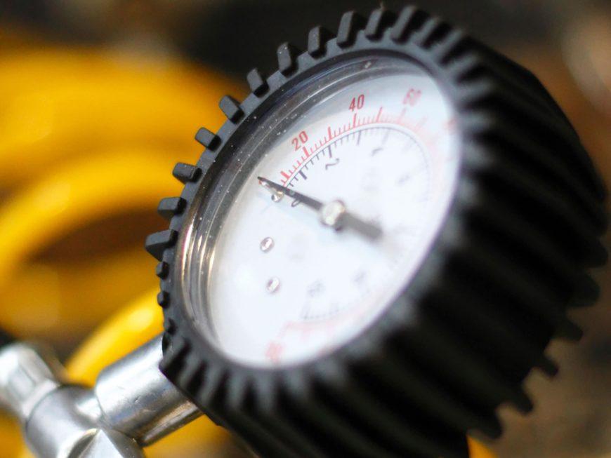 Close up shot of airbrush compressors