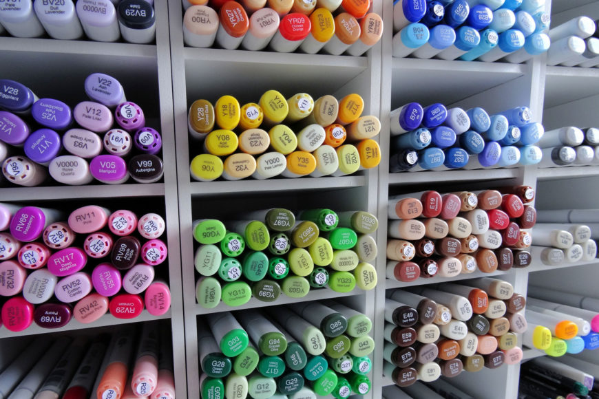 Markers on storage