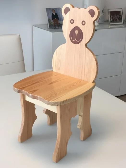 Bear - Wooden Kids Chair
