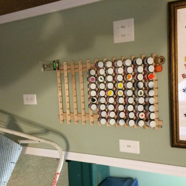 Wooden Paint Rack
