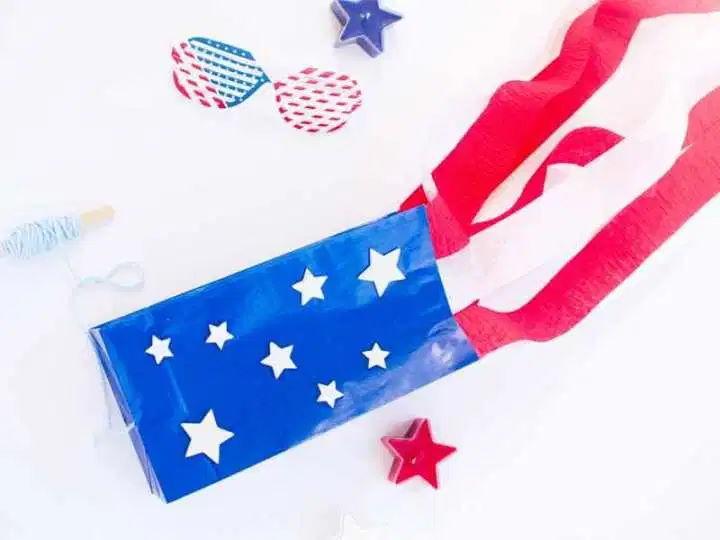 STARS-AND-STRIPES PAPER BAG KITE