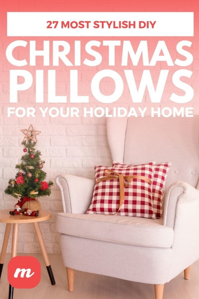 27 Most Stylish DIY Christmas Pillows For your Holiday Home