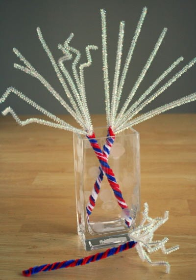 4th of July Pipe Cleaner Sparklers
