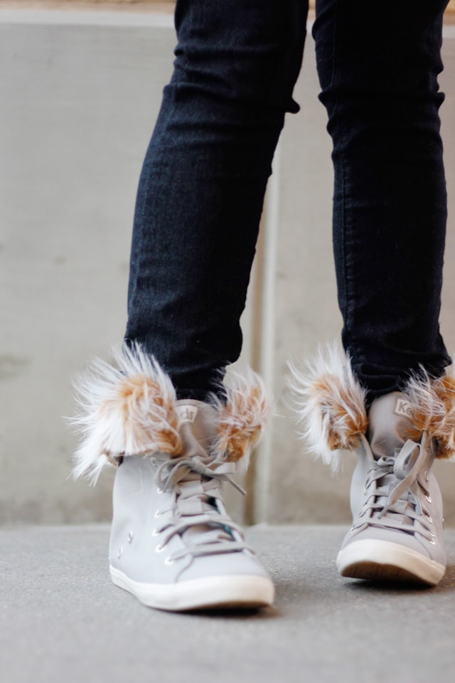 Removable Fur Lined High Tops
