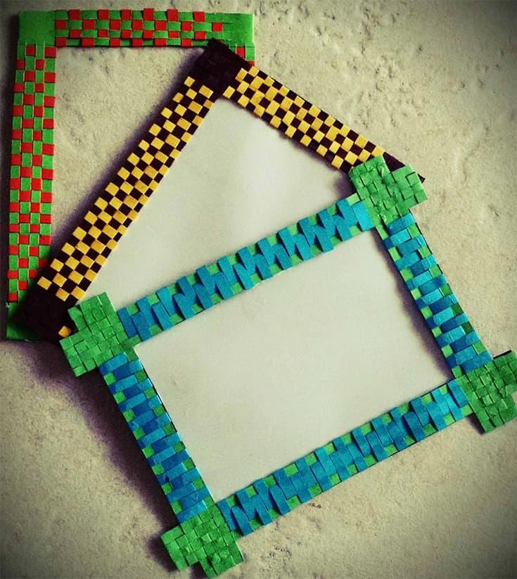 Paper Woven Photo-frame / Fridge Magnet