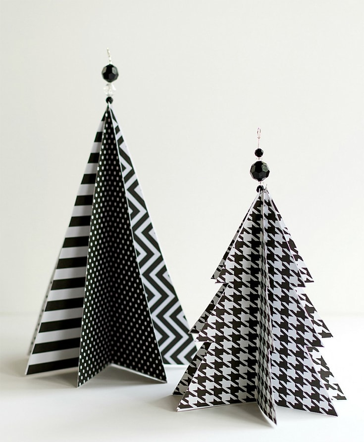 Modern Paper Christmas Trees