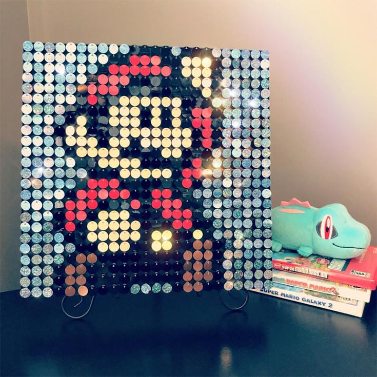 Sequin Pixel Art Craft Kit - Do-It-Yourself Wall Art - Create Anything You Wish & Change Whenever