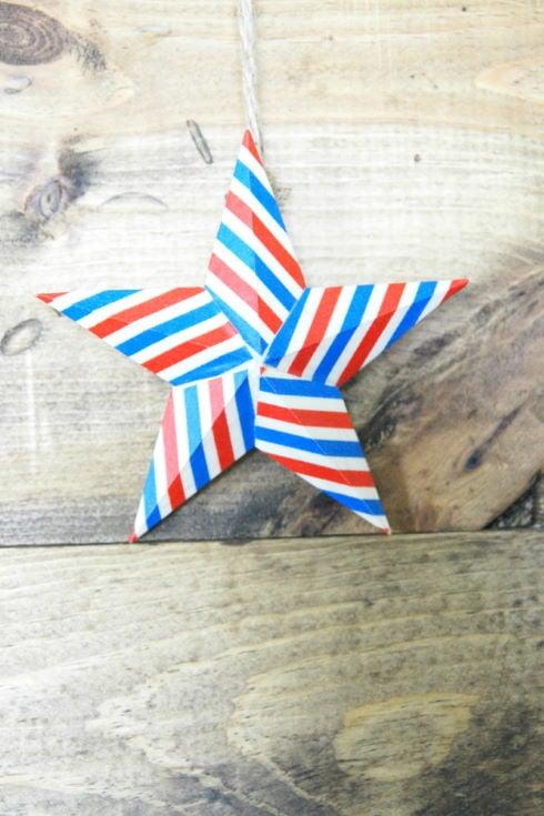 DIY Washi Tape Star Decor