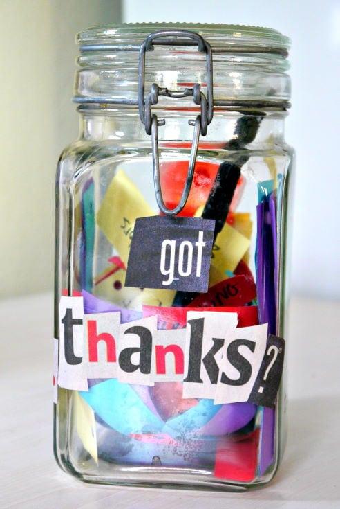 Gratitude Jar for Thanksgiving