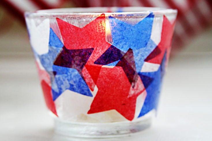 Patriotic Votive Candle Holders