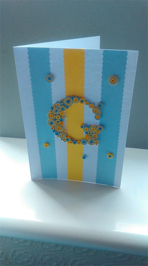 Easy Quilling Card