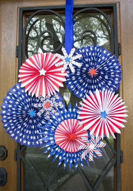 DIY 4th of July Fireworks Wreath