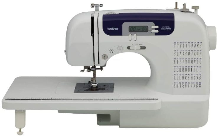 """Brother Sewing and Quilting Machine, CS6000i, 60 Built-in Stitches, 2.0"""" LCD Display, Wide Table, 9 Included Sewing Feet"""