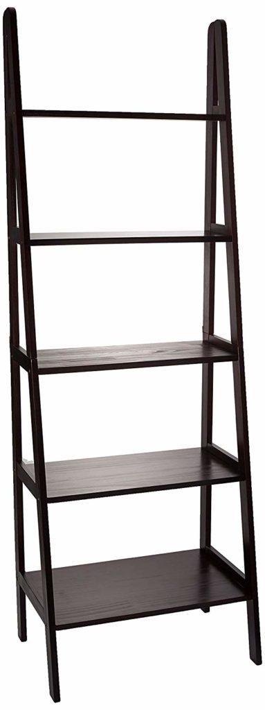 5 ladder shelf made of wood
