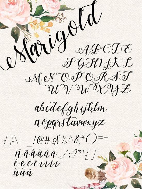 Marigold Font lettering