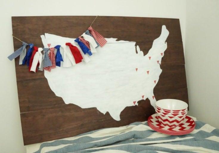 Patriotic Fabric Garland