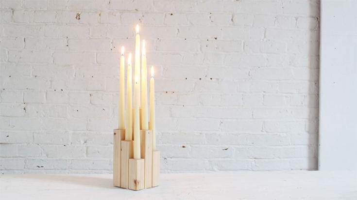 Wooden Candelabra