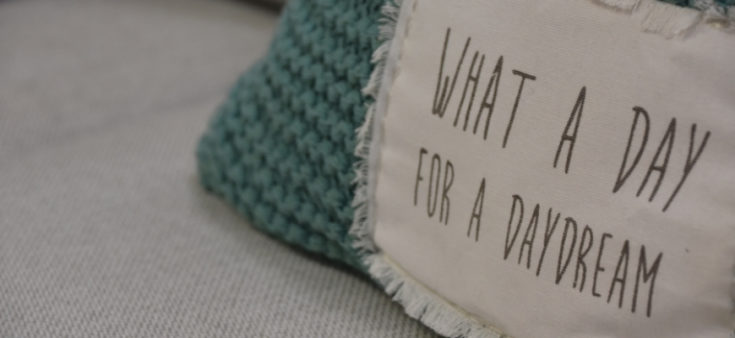 Pillows with a message.