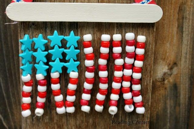 Pony Bead American Flag
