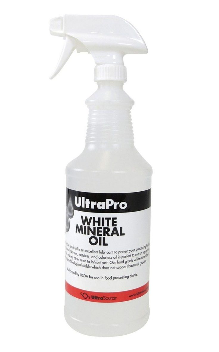 UltraPro Food Grade Mineral Oil 32 oz Spray Bottle - for Lubricating and Protecting Cutting Board, Butcher Block, Stainless Steel, Meat Grinder, Knife, Tool, Machine and Equipment, NSF Approved