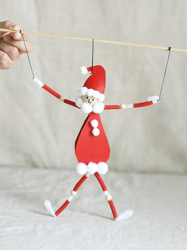 Pasta Puppet Dancing Santa Claus