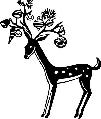 Decorated reindeer