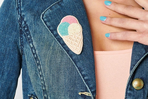 ice cream brooch