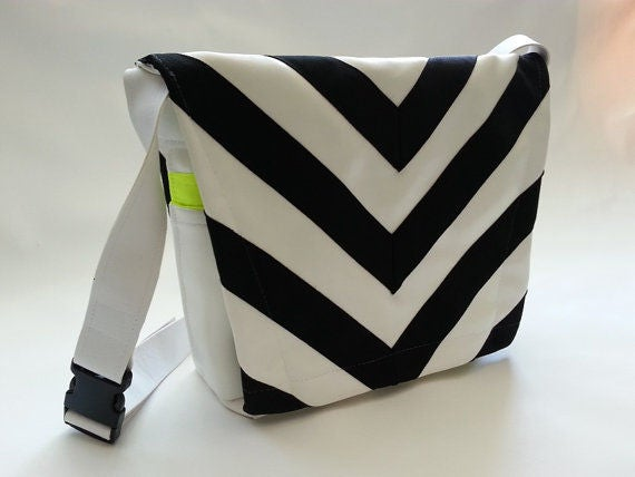 80s-Inspired Messenger Bags with a zebra pattern design