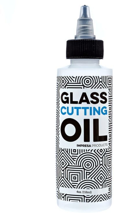 Premium Glass Cutting Oil with Precision Application Top - 4 Ounces - Custom-Formulated for an Array of Glass Cutters and Glass Cutting Applications Including Bottles! by Impresa Products