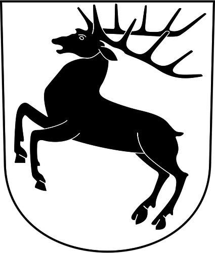 Hirzel coat of arms vector clip art